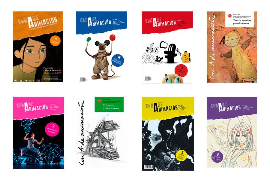 Con A de animación: portadas de la revista